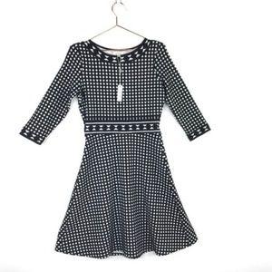 MAX STUDIO Polka Dot Flare Dress